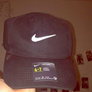 Black bike hat